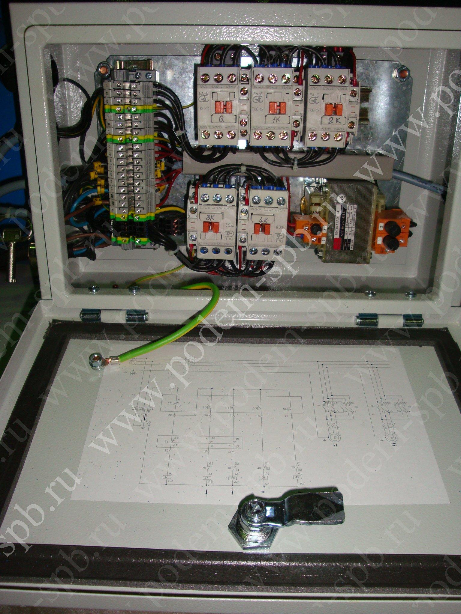 Фото схемы подключения тельфера