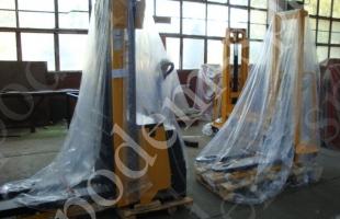 Штабелеры с электроприводом подъема и перемещения от насоса