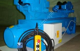 Таль (тельфер) электрическая канатная монорельсовая г/п 10.0 т., в/п 18.0 м.