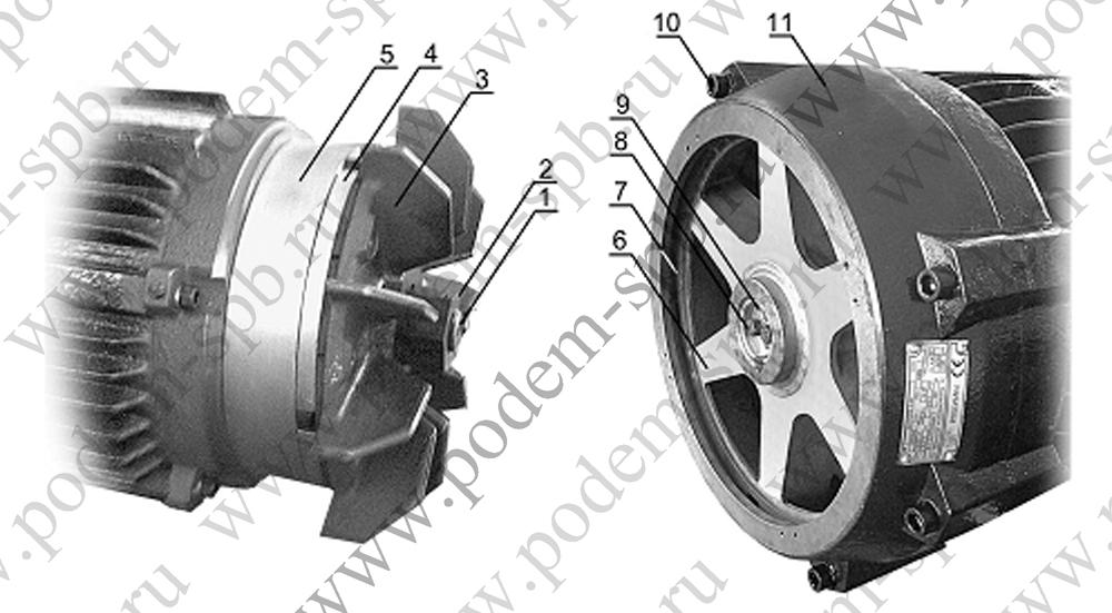 Электродвигатель подъема регулировка тормоза
