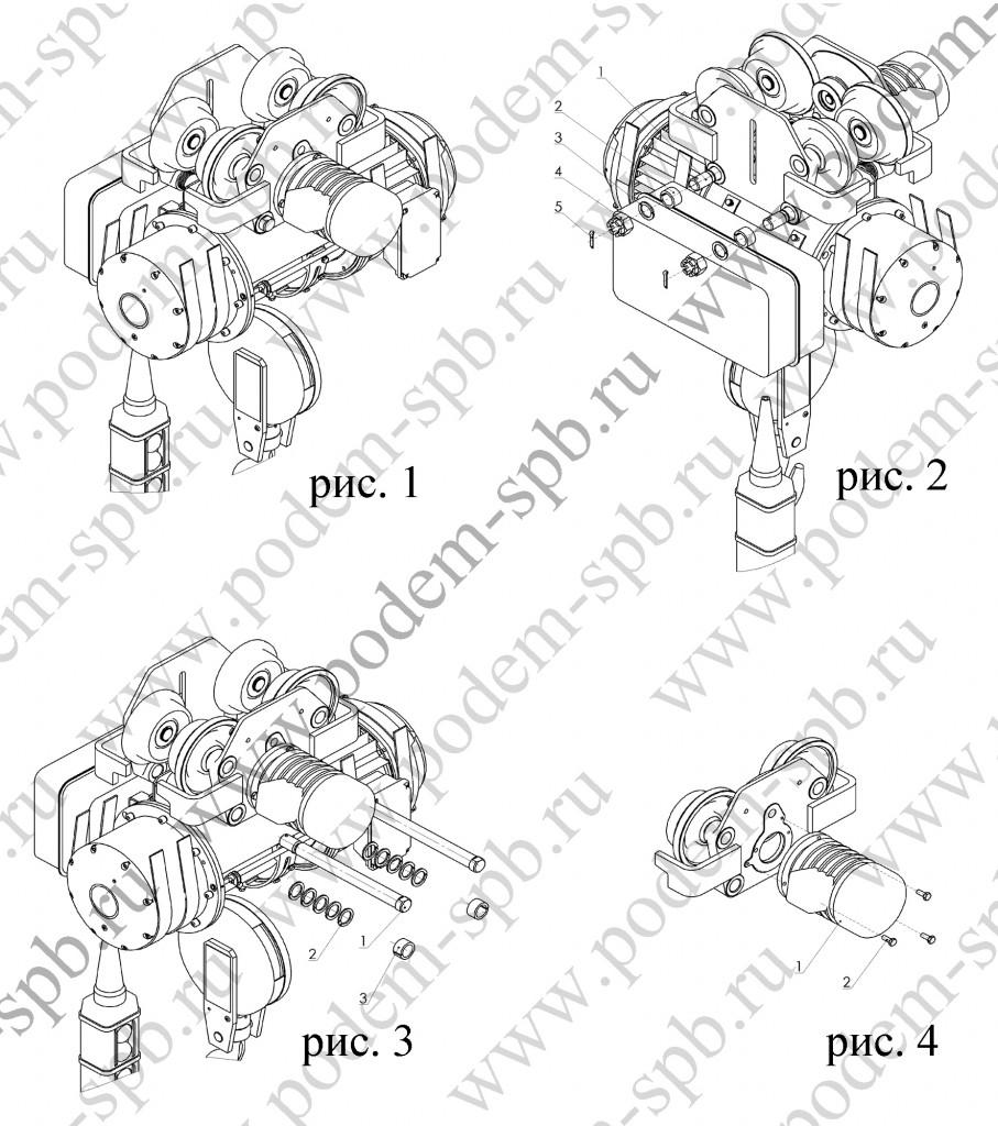 Замена тележки тали (тельфера) и ходовых колес