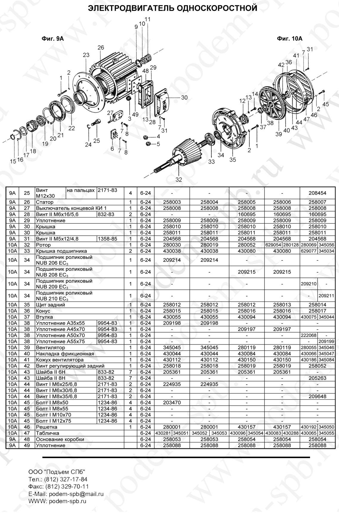 Концевой выключатель двигателя подъема и передвижения